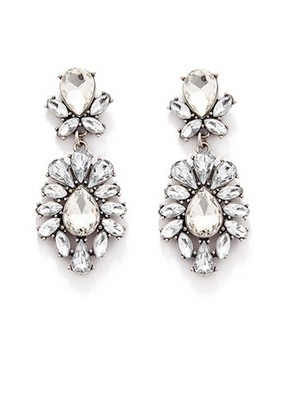 The Rhinestone Petal Drop Earrings, found on Forever21.com.
