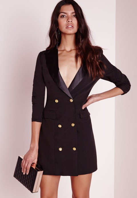 The Long Sleeve Tux Dress, found on Missguidedus.com.