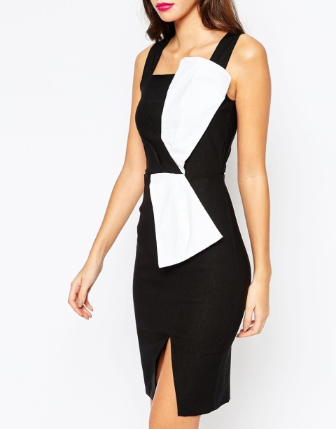 The Vesper Sexy Pencil Dress with Bow Tie Waist, found on Asos.com.