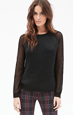 black metallic sweater