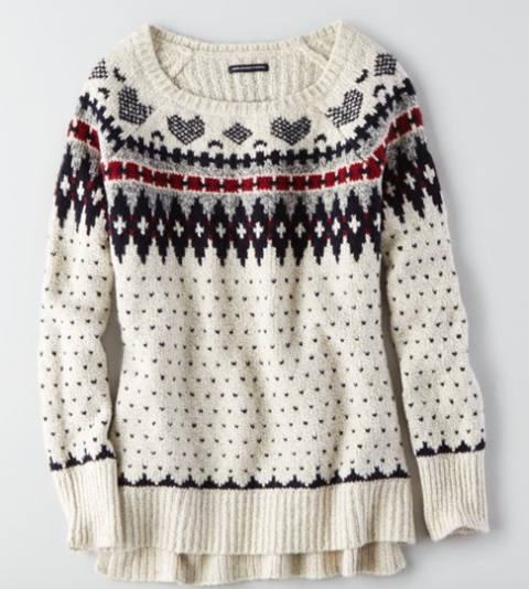 raglan pullover sweater