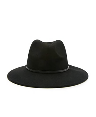 small brim wool fedora