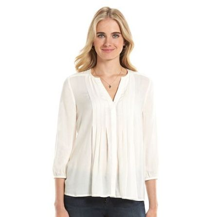 lc pintuck blouse