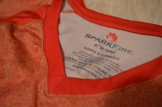SparkFire Active even makes their size labels inspirational. Photo by Nicole Funaro.